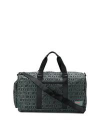 Bolso baúl de lona verde oscuro de Diesel