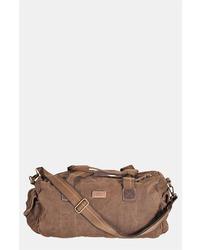 Bolso baúl en marrón oscuro