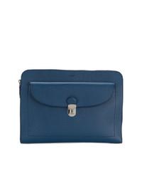 Bolso con cremallera azul de Tod's