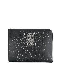 Bolso con cremallera con adornos negro de Alexander McQueen