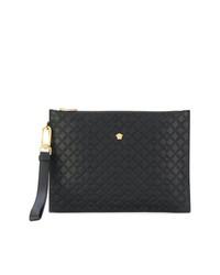 Bolso con cremallera con adornos negro de Versace