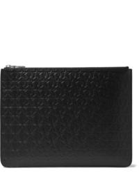 Bolso con cremallera de cuero de estrellas negro de Givenchy