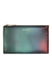 Bolso con cremallera de cuero en multicolor de Paul Smith