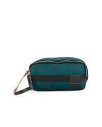 Bolso con cremallera de cuero estampado en multicolor