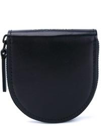 Bolso con cremallera de cuero negro de Ann Demeulemeester