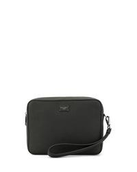 Bolso con cremallera de cuero negro de Dolce & Gabbana