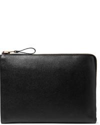 Bolso con cremallera de cuero negro de Tom Ford