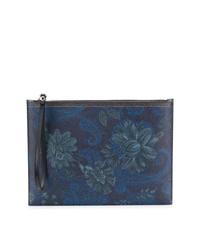 Bolso con cremallera de paisley azul marino de Etro