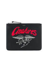 Bolso con cremallera estampado negro de Givenchy