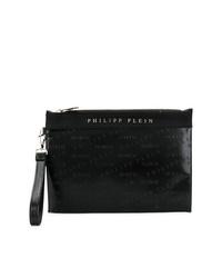 Bolso con cremallera negro de Philipp Plein