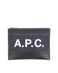 Bolso con cremallera vaquero azul marino de A.P.C.