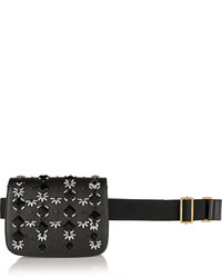 Bolso de cuero con adornos negro de Marni