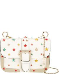 Bolso de cuero de estrellas blanco de RED Valentino