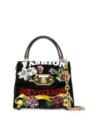 Bolso de hombre de ante negro de Dolce & Gabbana
