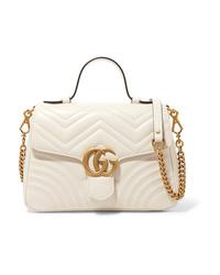 Bolso de hombre de cuero acolchado blanco de Gucci