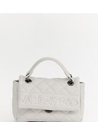 Bolso de hombre de cuero acolchado blanco de Valentino by Mario Valentino