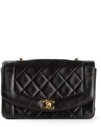 Bolso de hombre de cuero acolchado negro de Chanel
