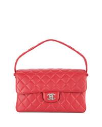 Bolso de hombre de cuero acolchado rojo de Chanel Vintage