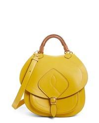 Bolso de hombre de cuero amarillo