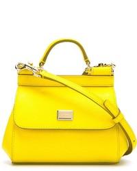 Bolso de hombre de cuero amarillo de Dolce & Gabbana