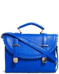 Bolso de hombre de cuero azul de Asos