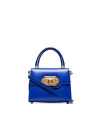 Bolso de hombre de cuero azul de Dolce & Gabbana