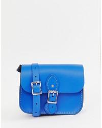Bolso de hombre de cuero azul de Leather Satchel Company