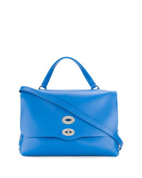 Bolso de hombre de cuero azul de Zanellato