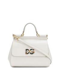 Bolso de hombre de cuero blanco de Dolce & Gabbana