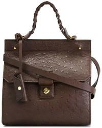 Bolso de hombre de cuero en marrón oscuro