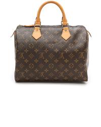 Bolso de hombre de cuero en marrón oscuro de Louis Vuitton
