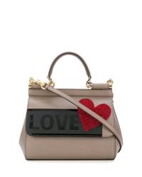 Bolso de hombre de cuero gris de Dolce & Gabbana