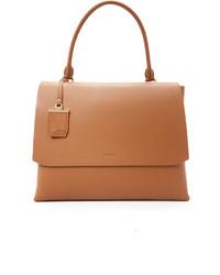 Bolso de hombre de cuero marrón claro de DKNY