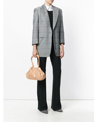 Bolso de hombre de cuero marrón claro de Giorgio Armani Vintage