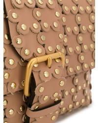 Bolso de hombre de cuero marrón claro de RED Valentino