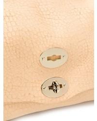 Bolso de hombre de cuero marrón claro de Zanellato