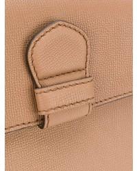 Bolso de hombre de cuero marrón claro de Burberry