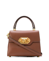 Bolso de hombre de cuero marrón de Dolce & Gabbana