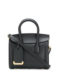 Bolso de hombre de cuero negro de Alexander McQueen