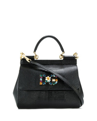 Bolso de hombre de cuero negro de Dolce & Gabbana