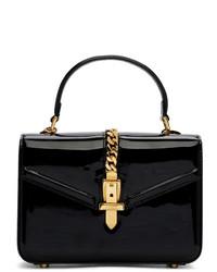 Bolso de hombre de cuero negro de Gucci