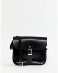 Bolso de Hombre de Cuero Negro de Leather Satchel Company
