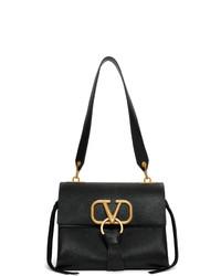 Bolso de hombre de cuero negro de Valentino