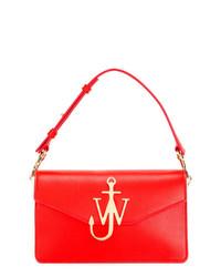 Bolso de hombre de cuero rojo de JW Anderson