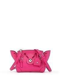 Bolso de hombre de cuero rosa