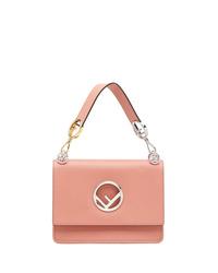 Bolso de hombre de cuero rosado de Fendi