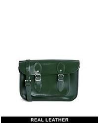 Bolso de hombre de cuero verde oscuro de Leather Satchel Company