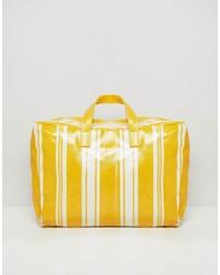Bolso deportivo de cuero amarillo de Mango