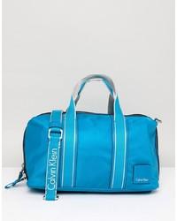 Bolso deportivo de cuero azul de Calvin Klein