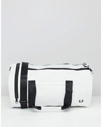Bolso deportivo de cuero blanco de Fred Perry
